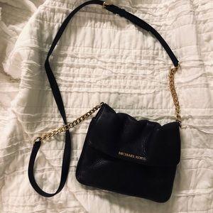 Black Leather Michael Kors Crossbody Bag